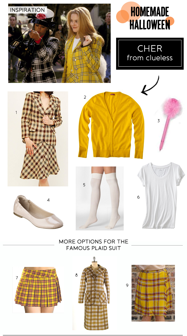Homemade Halloween Cher from Clueless Costume  sc 1 st  Advice from a Twenty Something & DIY Halloween Costumes: Cher from Clueless