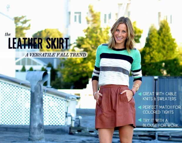 How to Wear The Trend: Leather Skirt