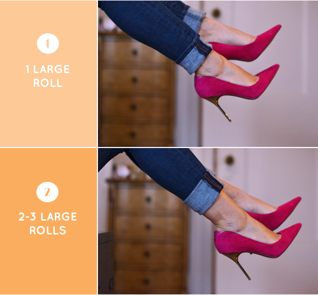 how to roll your jeans