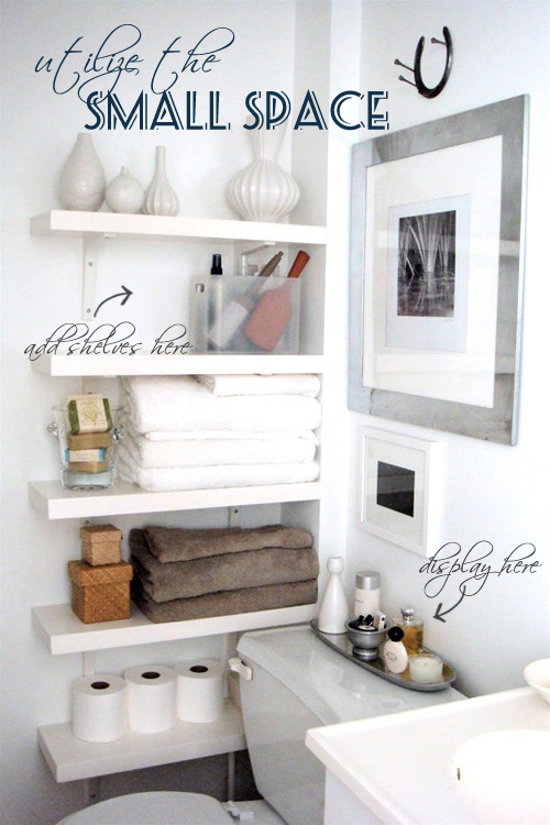 Bathroom ideas for small spaces for Bathroom shelving ideas for small spaces