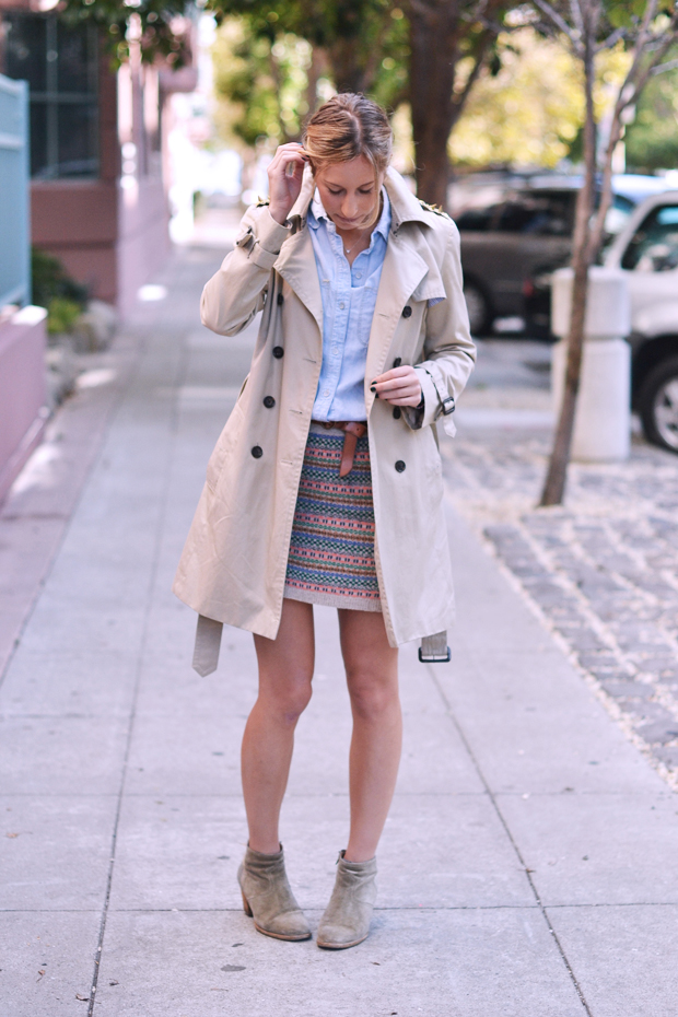 madewell sweater skirt