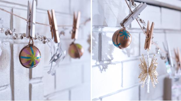 scotch tape ornaments