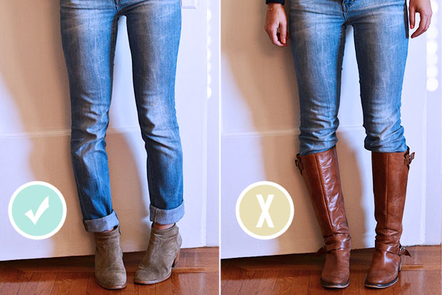 Skinny leg jeans with ankle boots