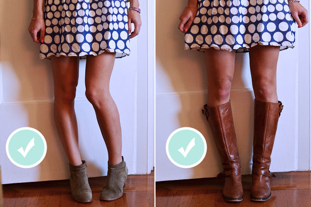 ankle booties vs. knee-high boots