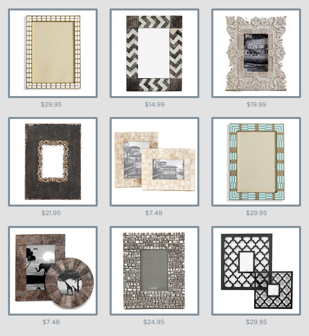 9 Stylish & Affordable Picture Frames