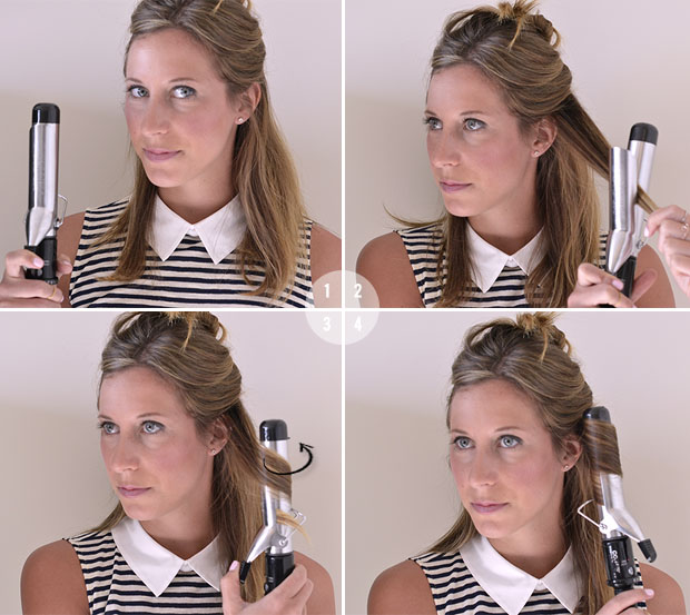 Stupendous How To Make Wavy Hair With A 1 Inch Curling Iron Best Hairstyles Hairstyle Inspiration Daily Dogsangcom