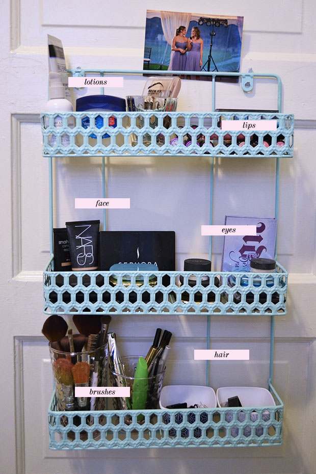 small space makeup organization ideas