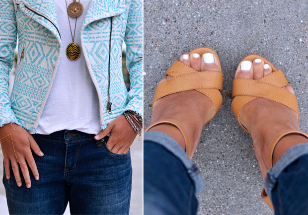 Do wedges look good with skinny jeans