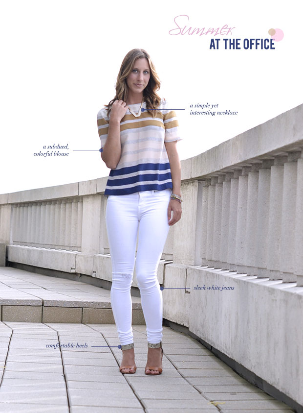 white_jeans office attire
