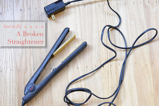 how to fix a broken straightener