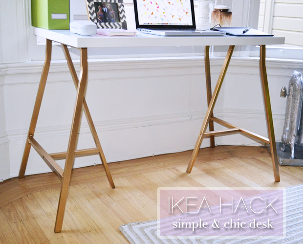 A Simple Ikea Hack Desk