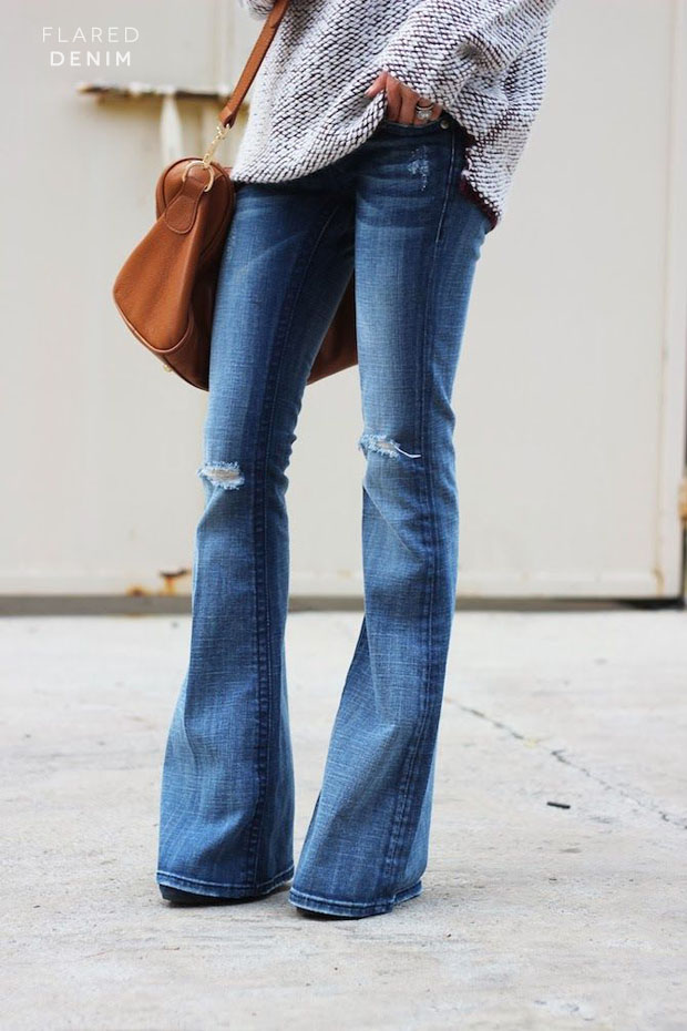 flared-denim