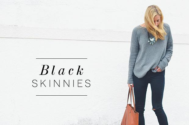 black skinnies