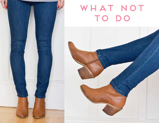 Skinny jeans and booties look