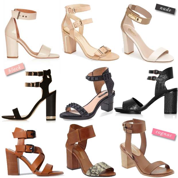 Spring Shopping: Chunky Heel Sandals