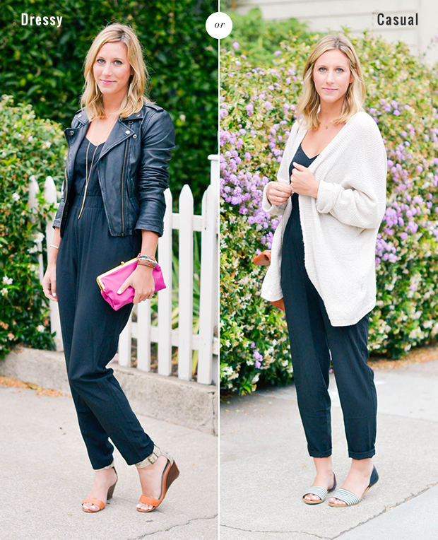 how to wear a jumpsuit 2 ways