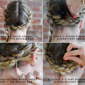 Milkmaid Braids for Short or Fine Hair