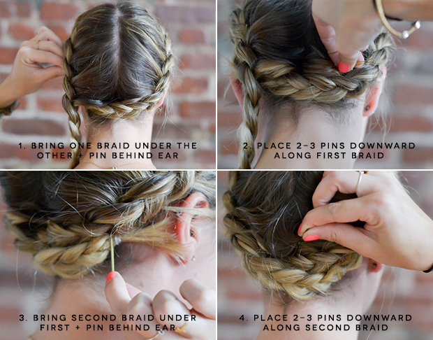 Milkmaid braids for short or fine hair milkmaidbraidstutorial ccuart Gallery