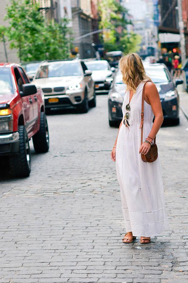 white maxi dress for daytime