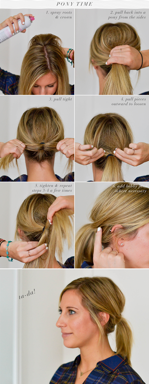 dove ponytail tutorial