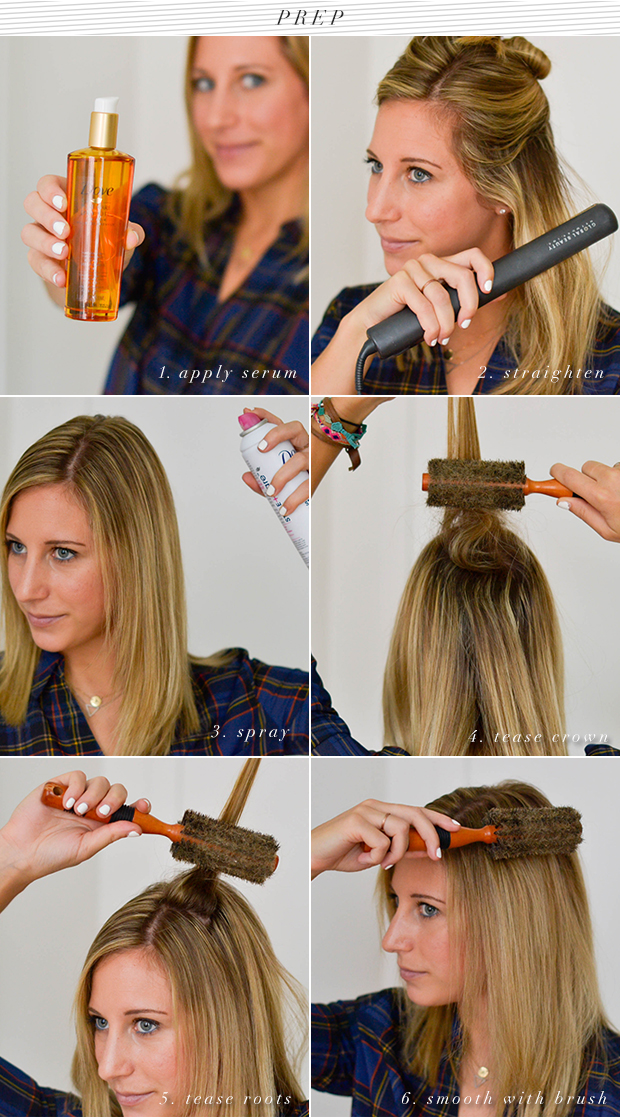prep-dove ponytail tutorial