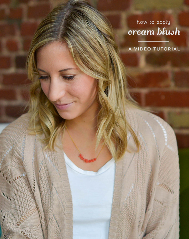 how to apply cream blush