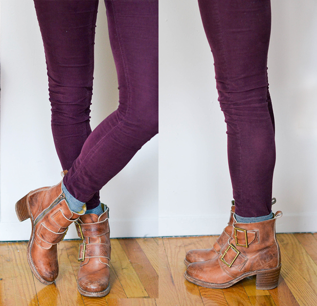 Purple Skinny Jeans Womens