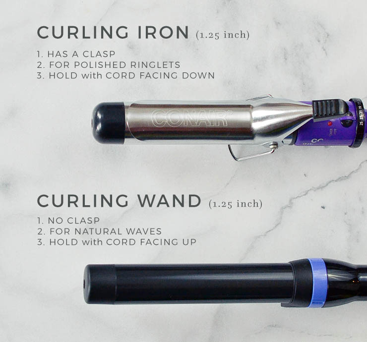 curling iron vs. curling wand