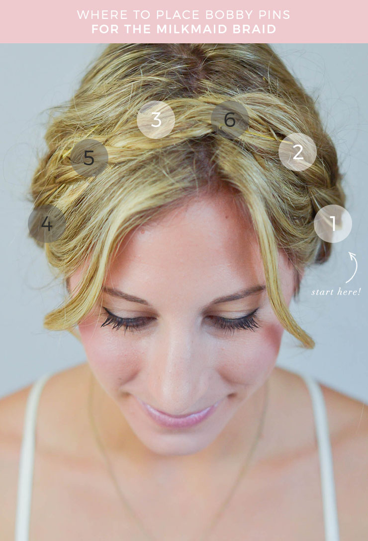 bobbypin-placement-milkmaid-braids