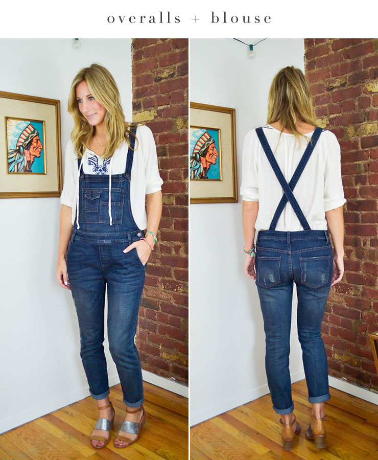 tops to wear with overalls
