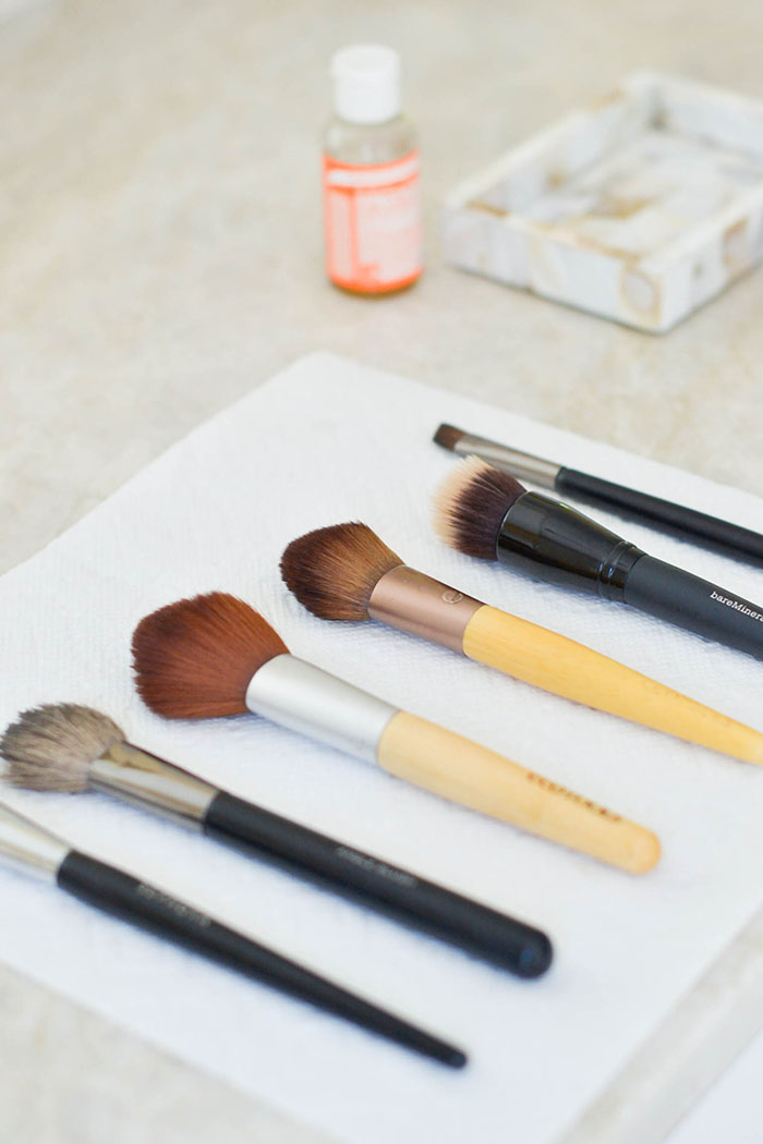 Makeup brush cleaner diy