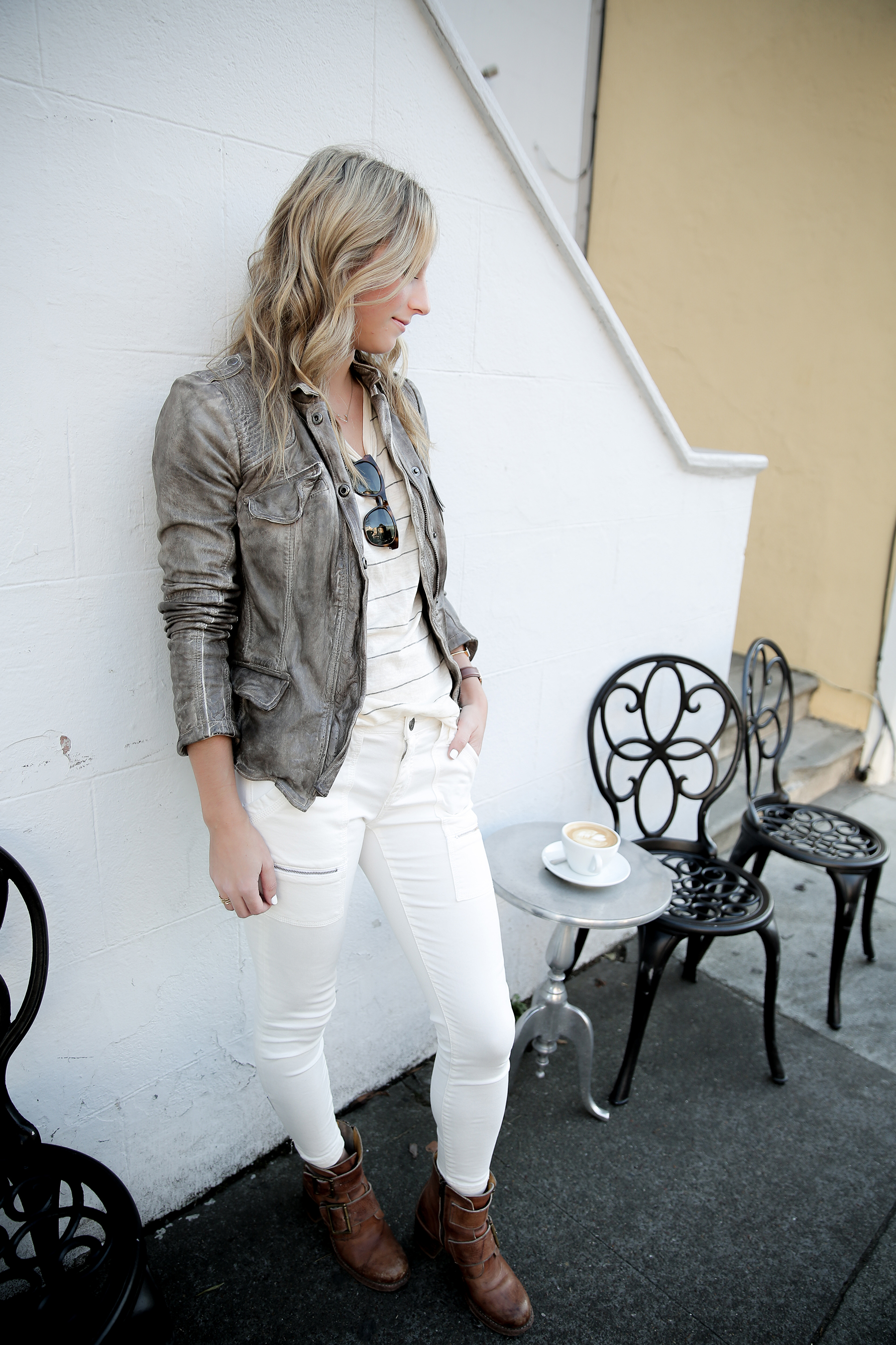 white jeans fall leather2