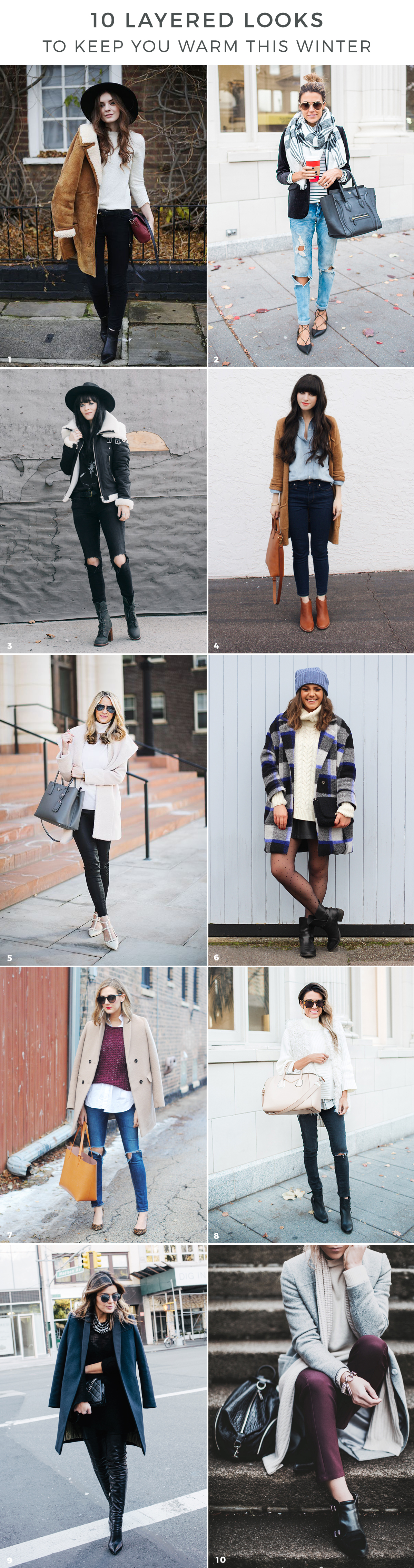 winter outfits, winter outfit ideas, layered looks, coats and jackets, roundup via Advicefroma20Something.com