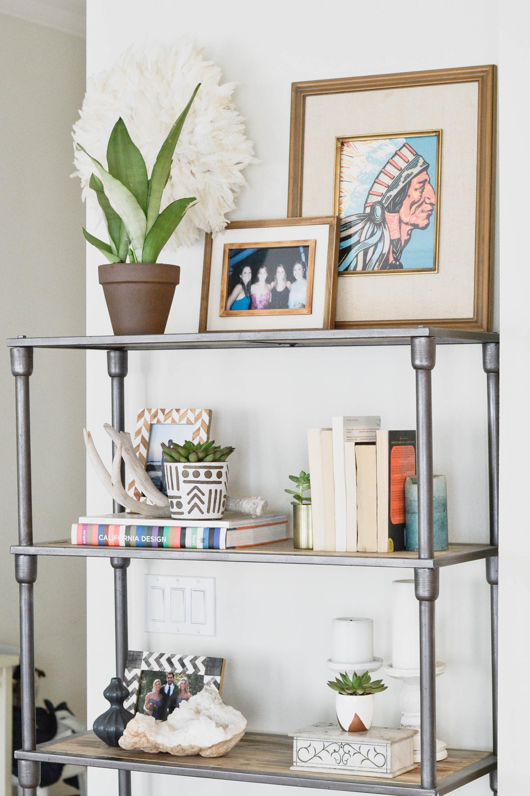 Apartment Refresh Bookshelf Styling