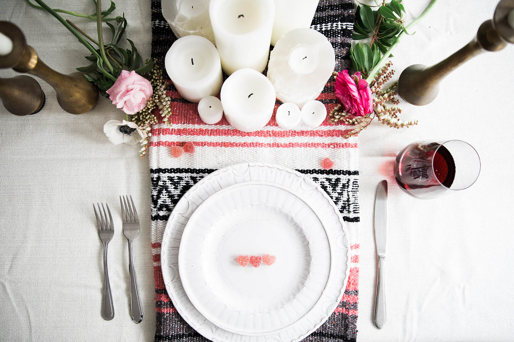 A Bohemian Tablescape for Valentine's Day