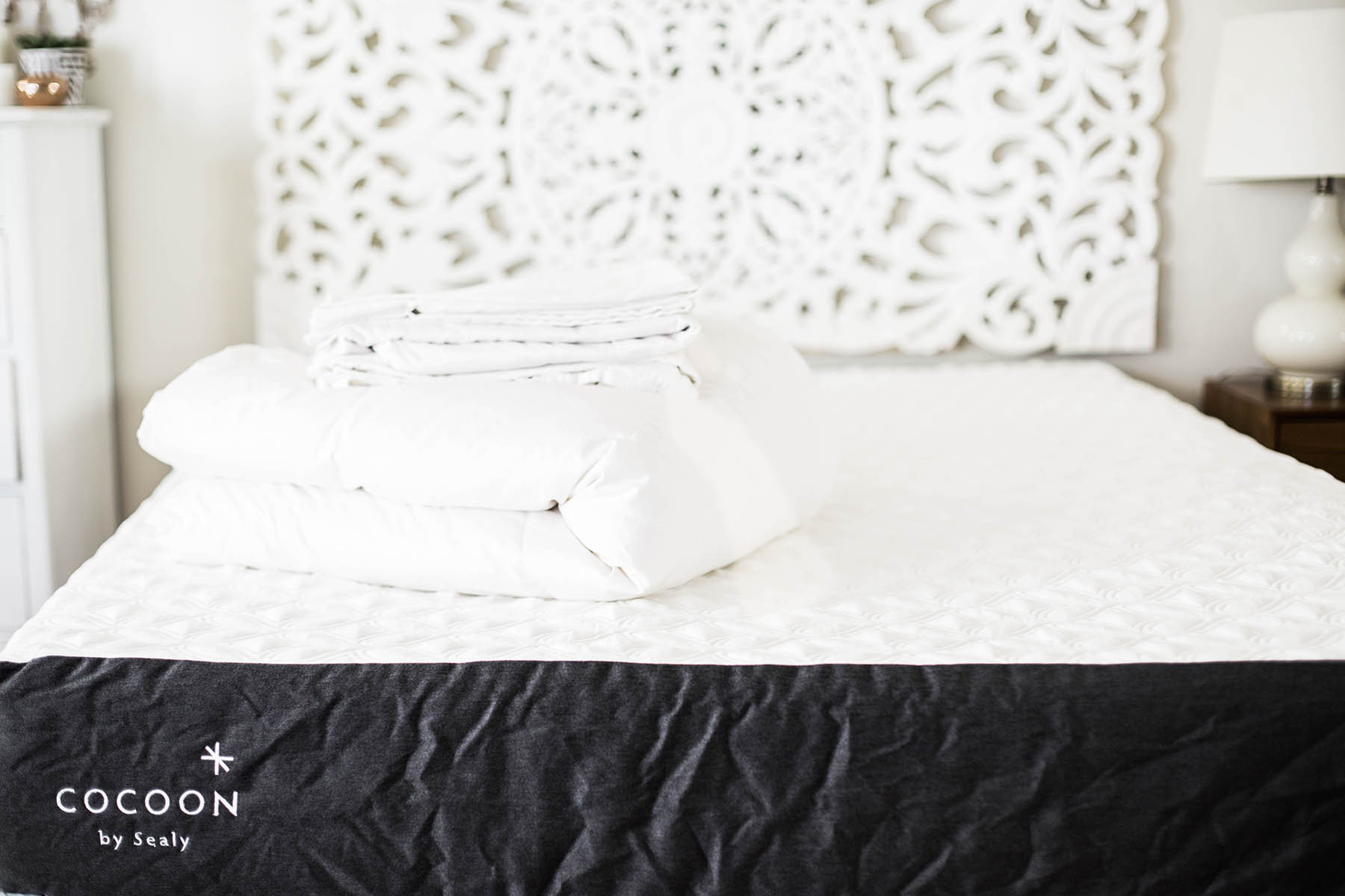 bedding basics, sheets, duvet, Cocoon by Sealy mattress