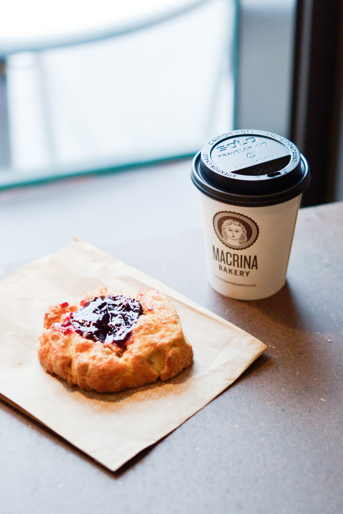 Macrina Bakery coffee and biscuit in Seattle