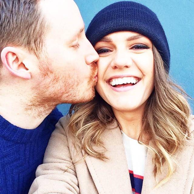 adorable couple Monica Welburn of The Elgin Avenue with boyfriend Oli