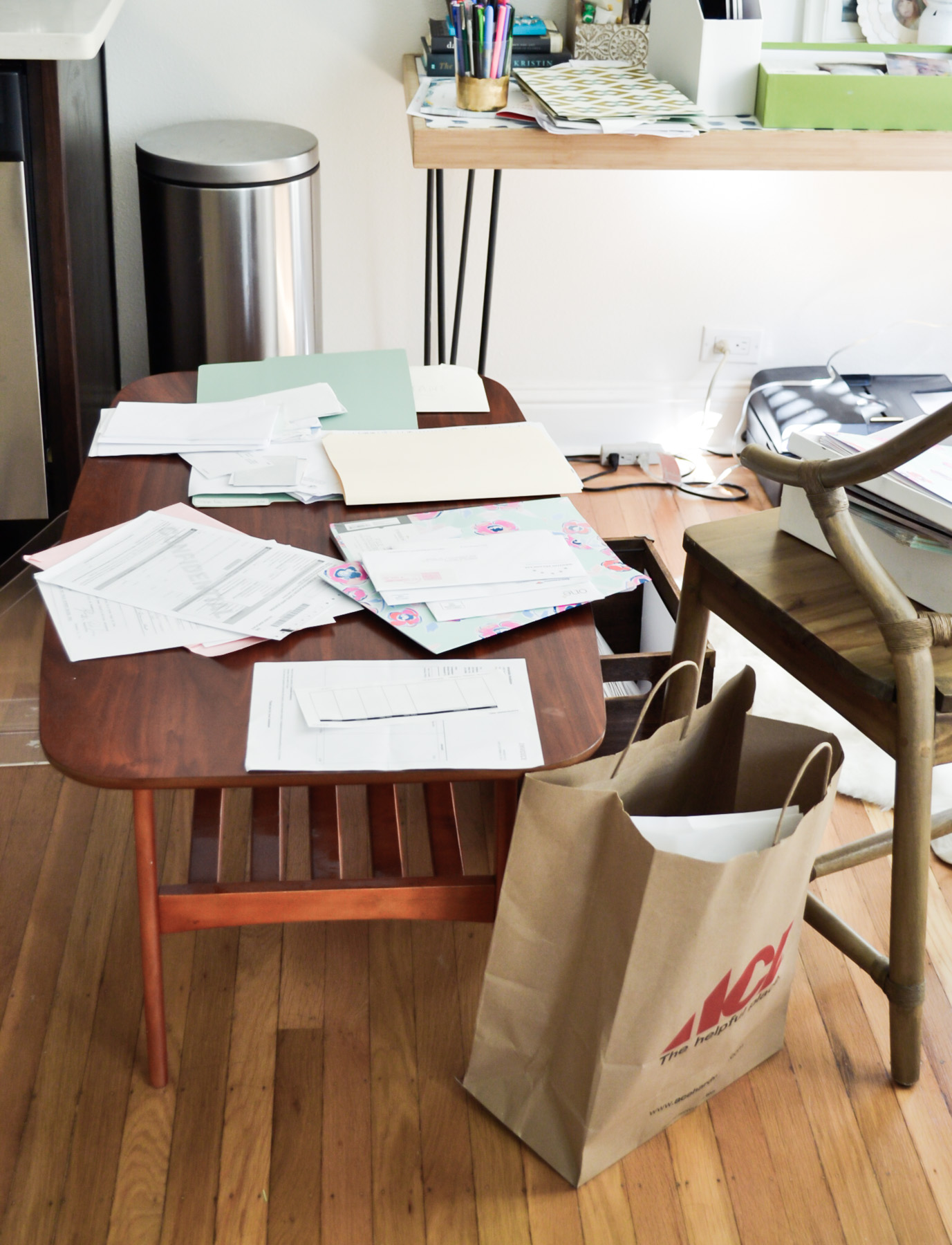 process of organizing paperwork with TaskRabbit