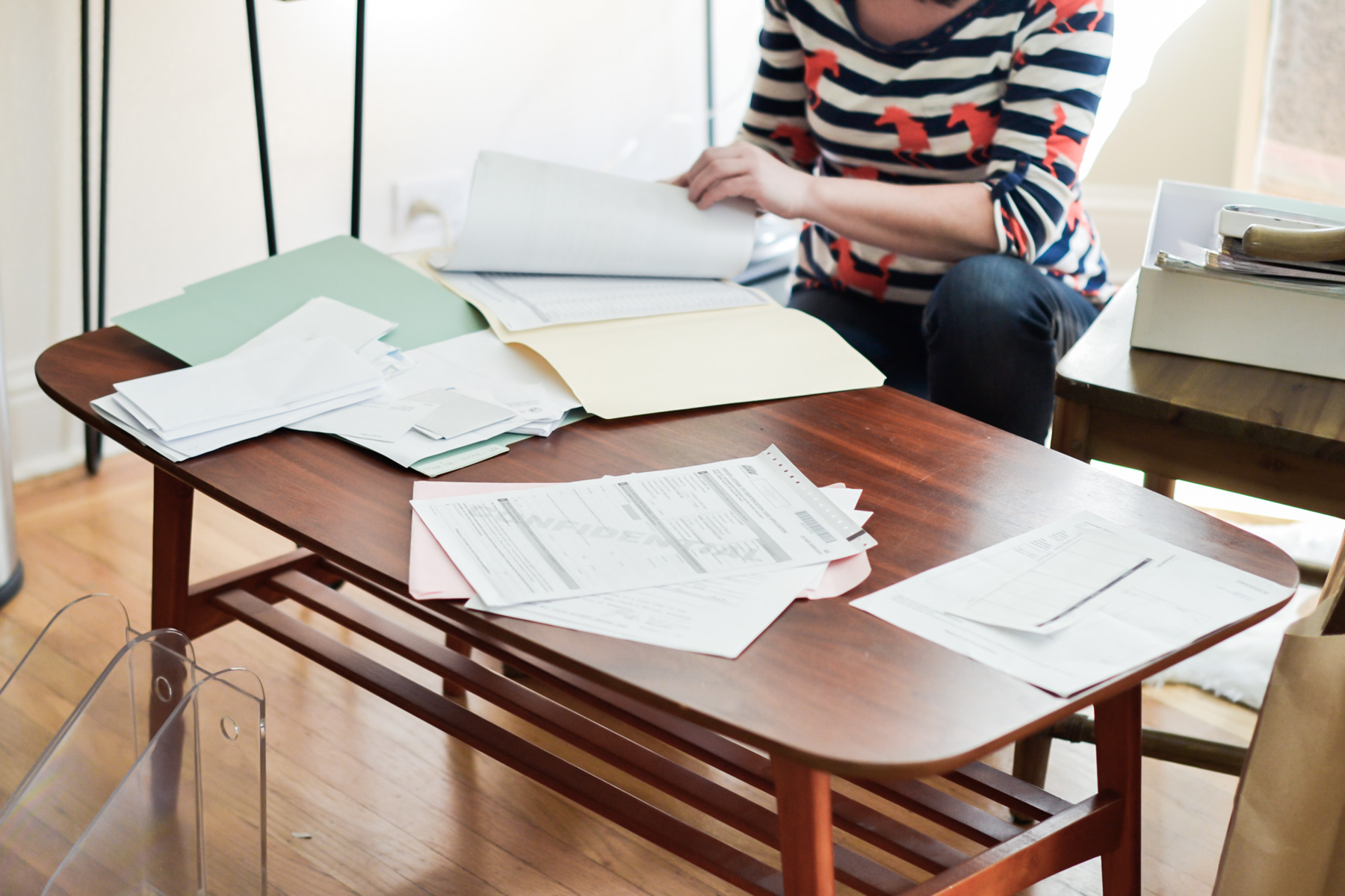organizing files & paperwork with TaskRabbit