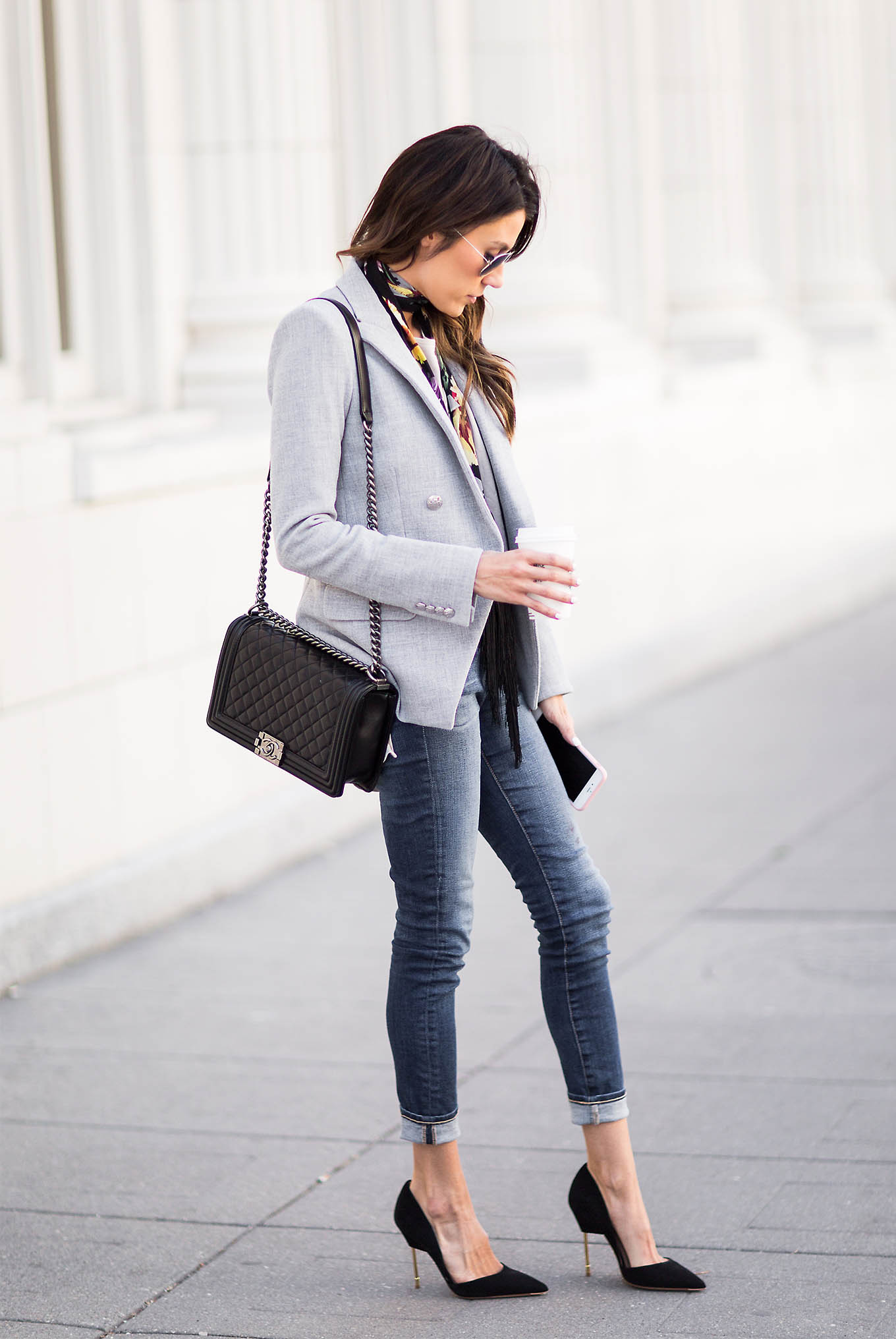 rolled skinny jeans and heels hello fashion blog