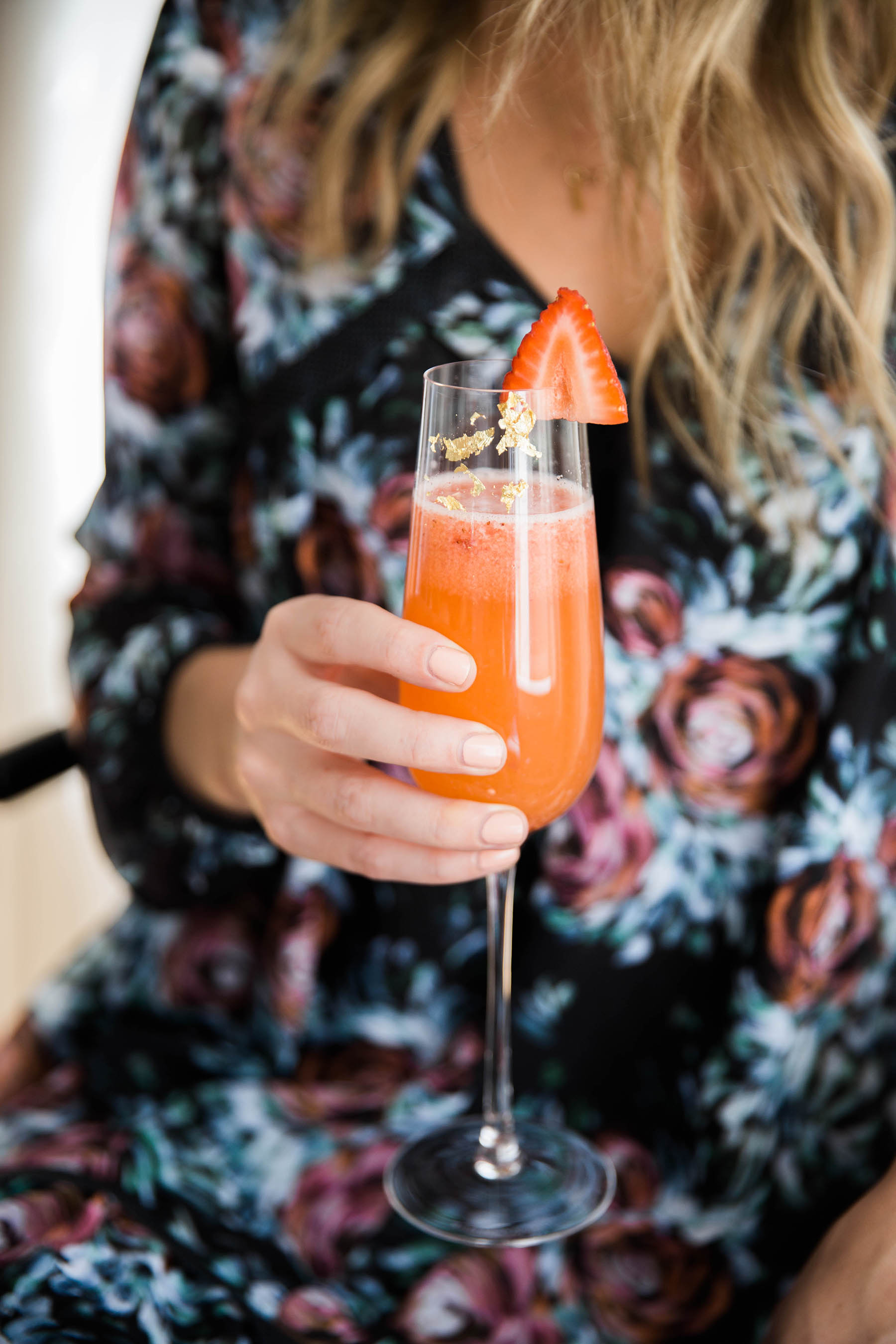 strawberry passion fruit bellini by Ashley Rose Conway