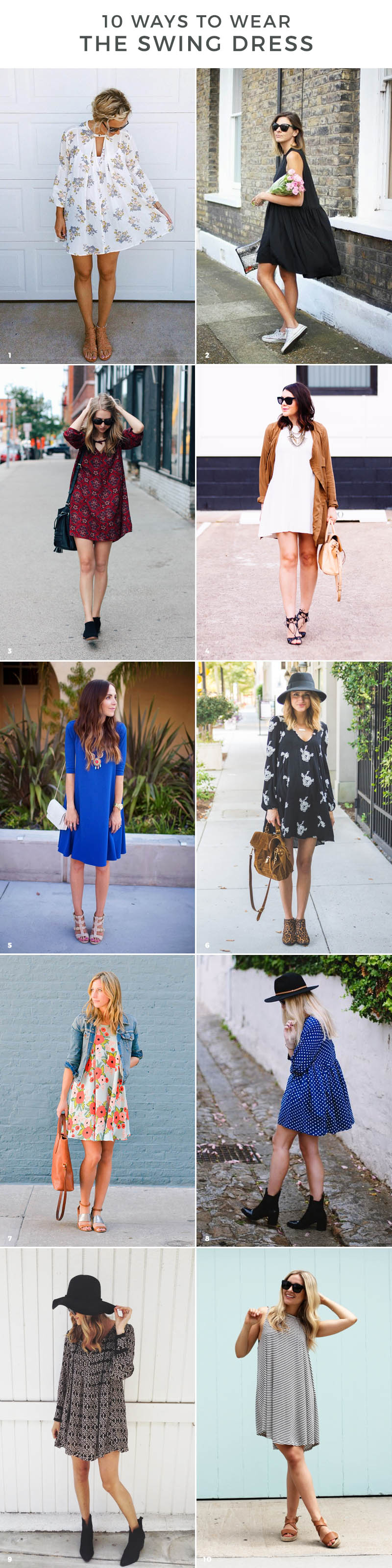 swing dress outfit ideas for spring 2016