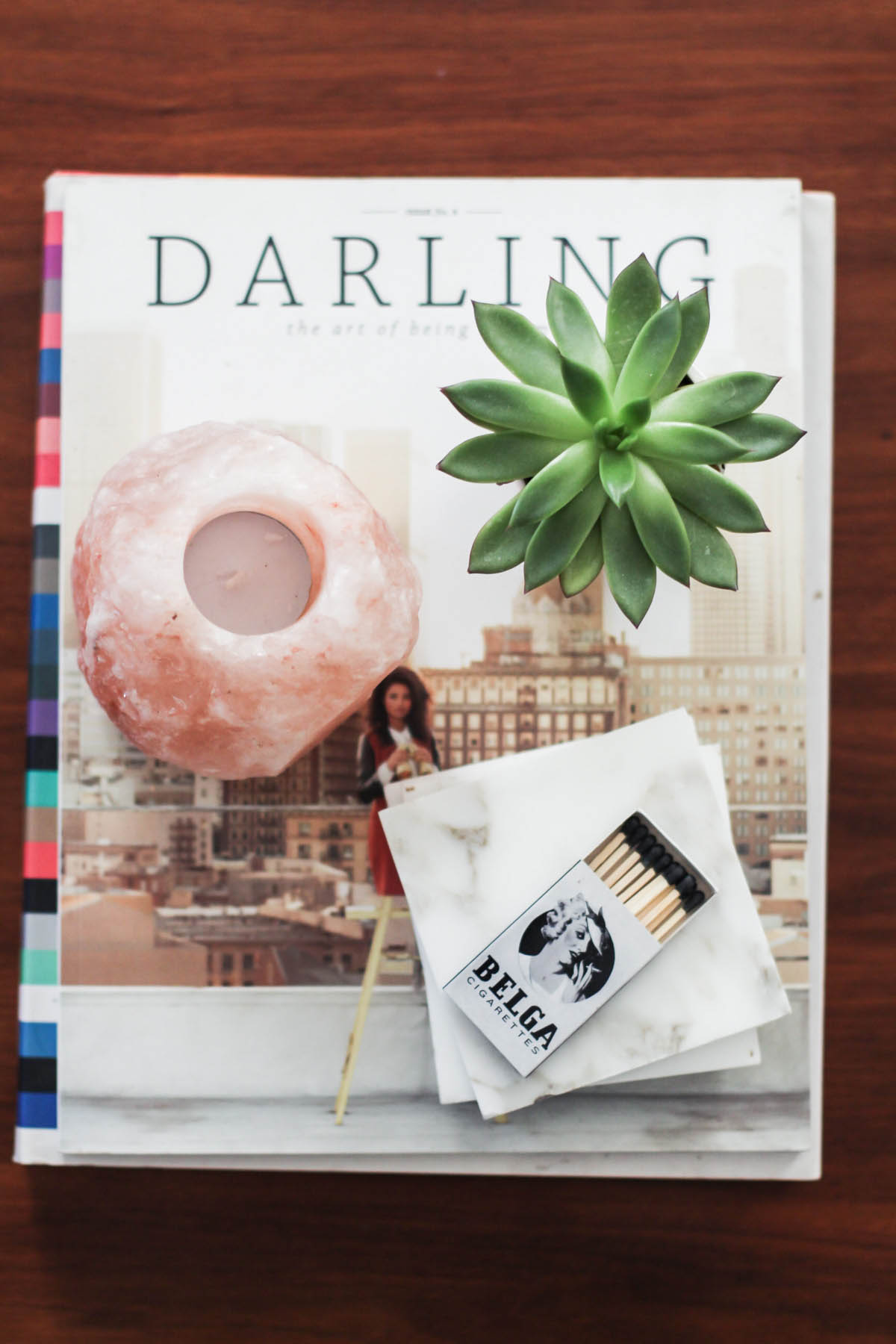 coffee table books with marble coasters