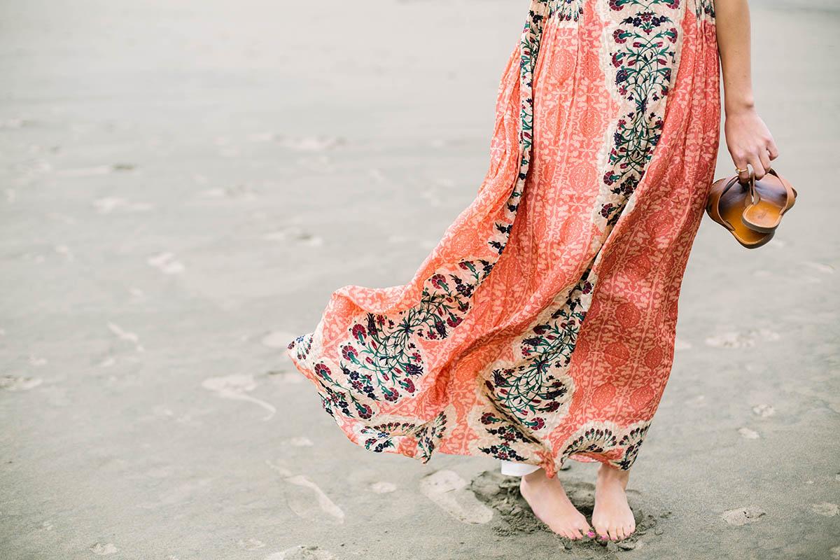 Anthropologie Botanique Maxi Dress for beach formal wedding