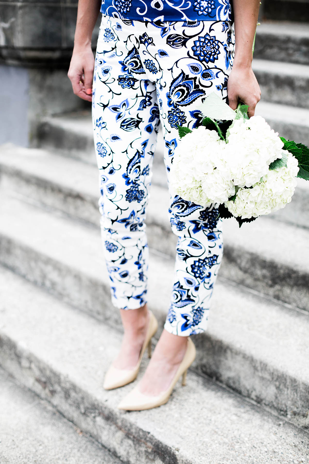 paisley print pants from Draper James in Oak Hill Vine print