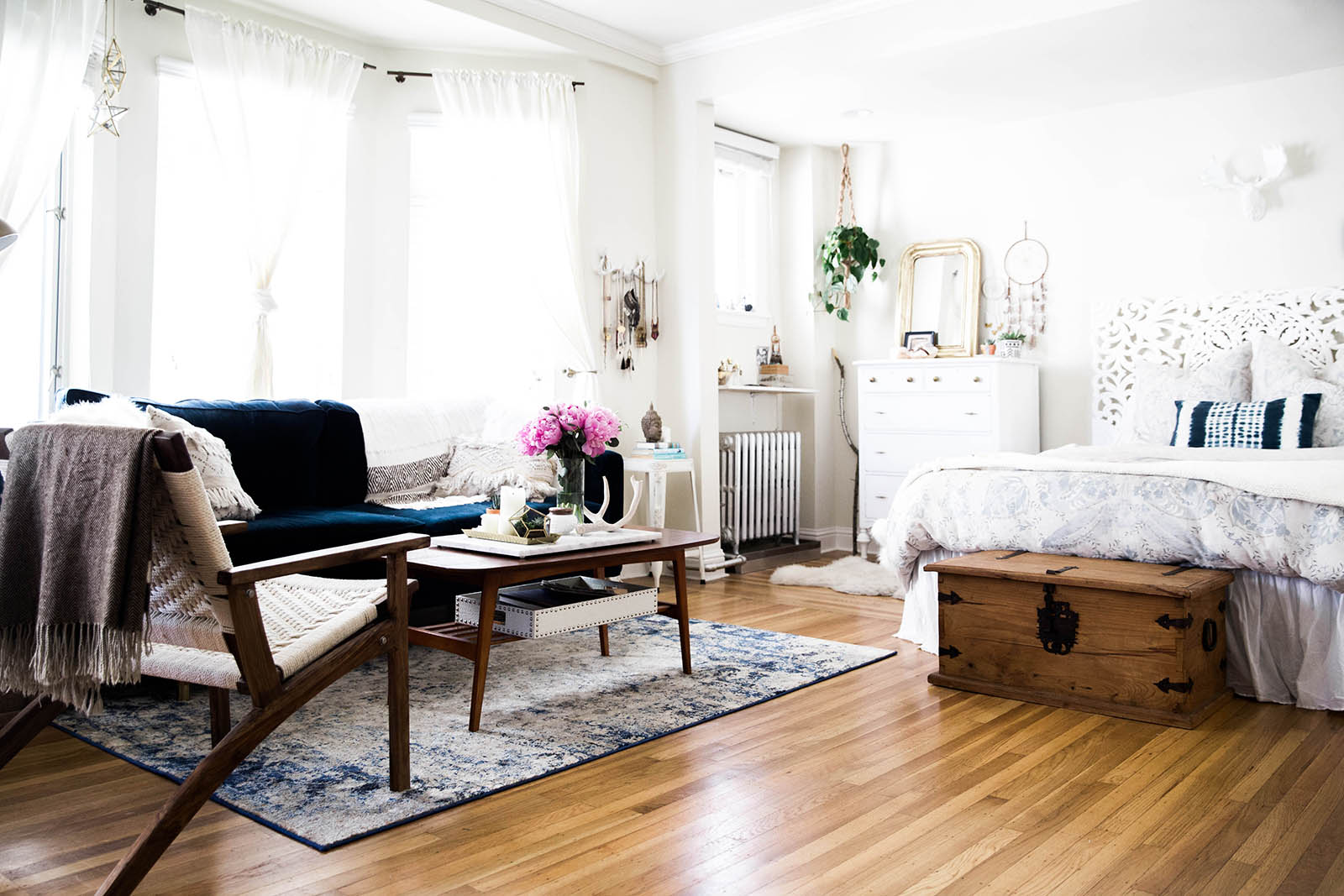 A tour of my san francisco studio apartment advice from for One bedroom living room ideas