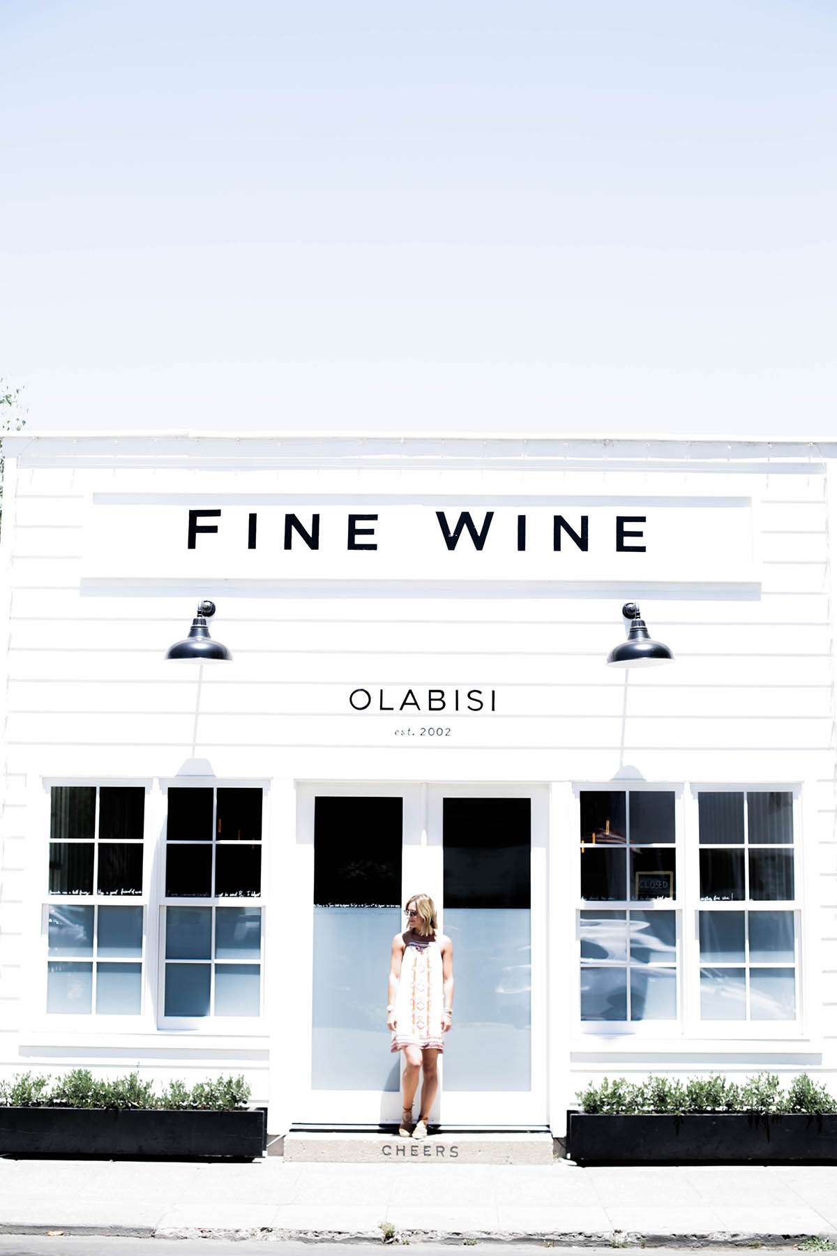 wine tasting outfit Urban Outfitters Ecote T-back dress at Olabisi tasting room Calistoga