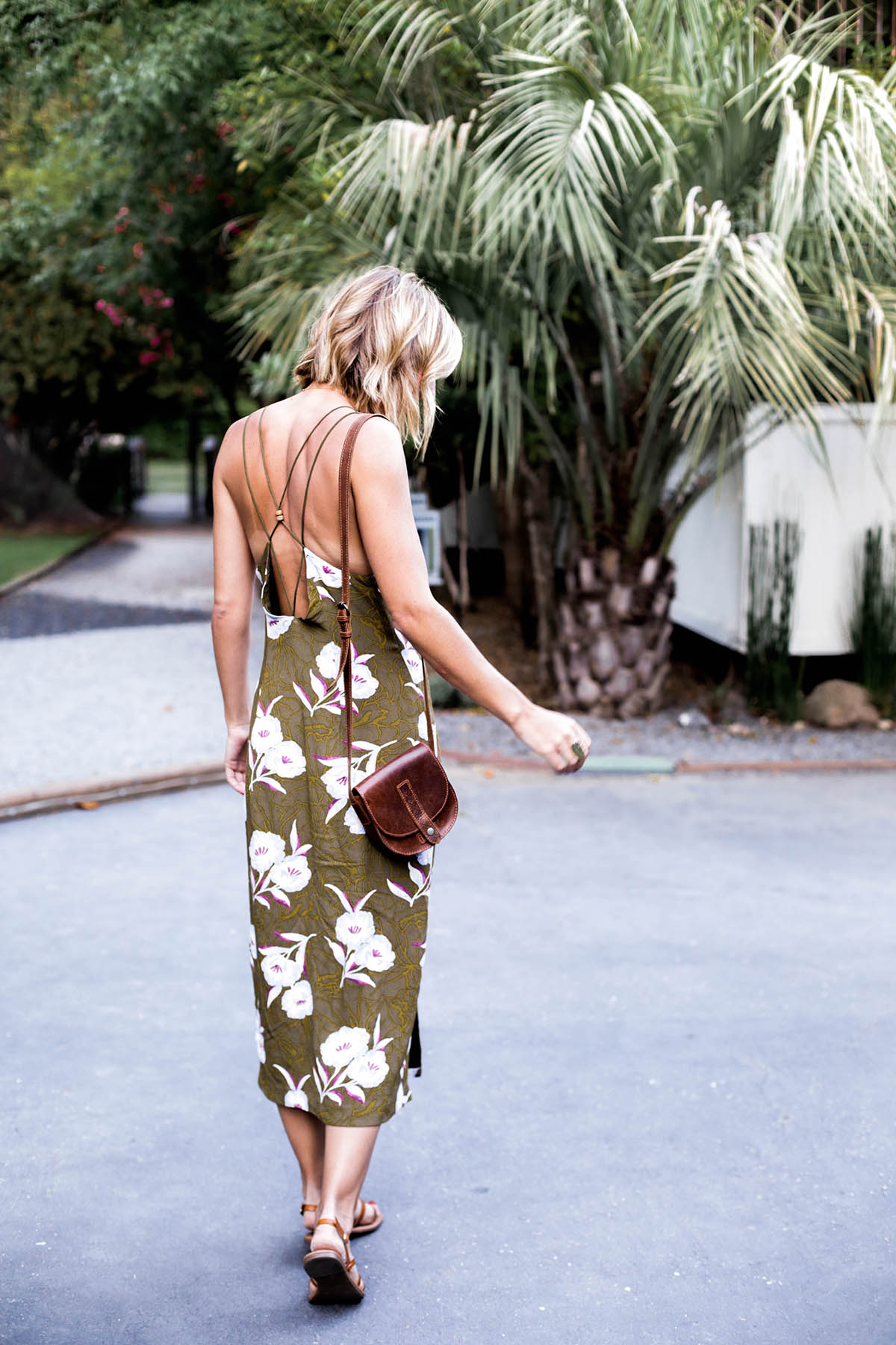 A Tropical Print Dress for Summer Nights