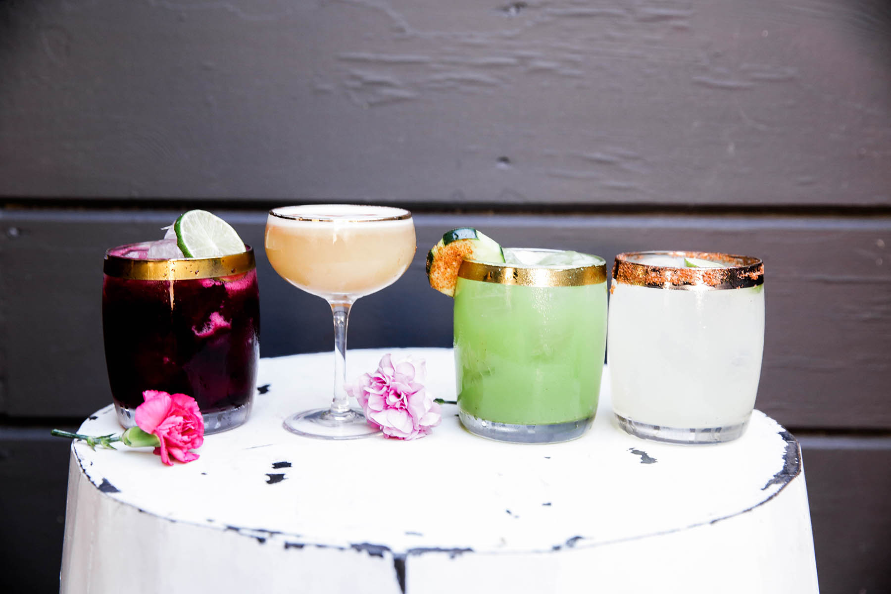 pretty cocktails at El Barrio in Guerneville, Sonoma County, California